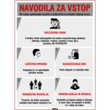 Navodila za vstop - Omejitev širjenja virusa