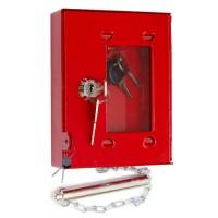 Omarica za požarni ključ, s kladivcem, rdeča