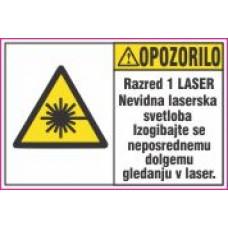 Opozorilo za laser, Nevidna laserska svetloba