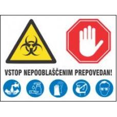 Vstop nepooblaščenim prepovedan - izloacija - korona virus