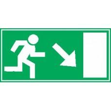 Smer evakuacije - desno dol