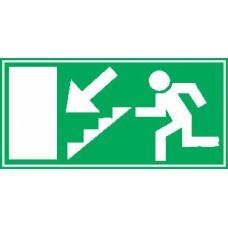 Smer evakuacije - levo dol - stopnice