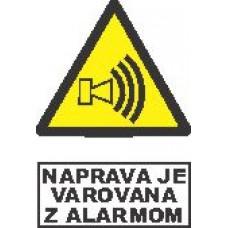 Naprava je varovana z alarmom