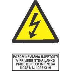 Pozor! Nevarna napetost!