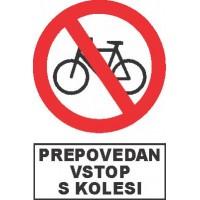Prepovedan vstop s kolesi