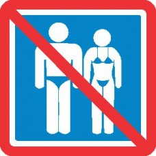 Prepovedan vstop v kopalkah
