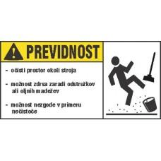 Opozorilna nalepka za stroje - Previdnost 1