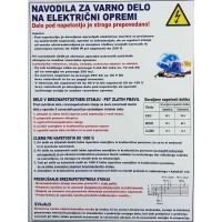 Navodila za varno delo na električni opremi