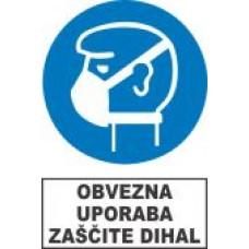 Obvezna uporaba zaščite dihal - maska
