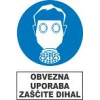 Obvezna uporaba zaščite dihal - respirator