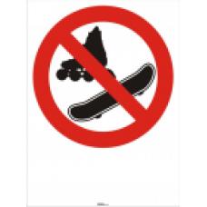 Prepovedano za rolerje in board
