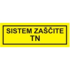 Sistem zaščite TN - pola 10 nalepk