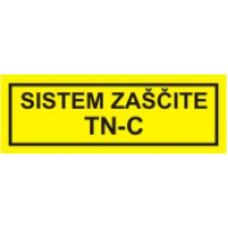 Sistem zaščite TN-C  - pola 10 nalepk