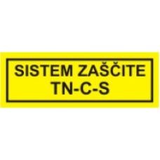 Sistem zaščite TN-C-S  - pola 10 nalepk